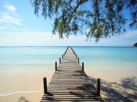 trad: walk to the sea Stock Photo
