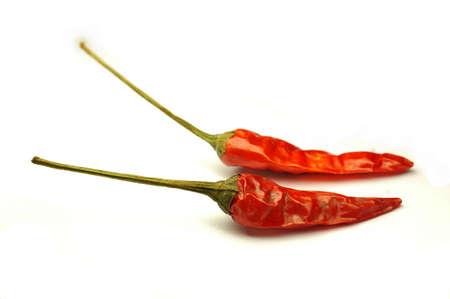 spicey: Due peperoncini essiccati Archivio Fotografico