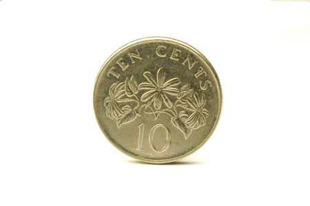 Singapore coin 10 cents  photo