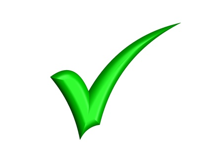 GREEN CHECK MARK Stock Photo - 9383750