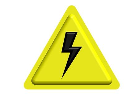 hazardous imperil: HIGH VOLTAGE WARNING SIGN