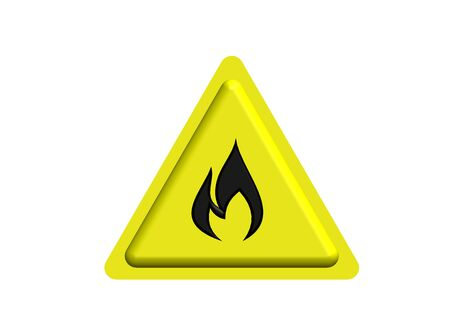 flammable: Flammable sign Stock Photo