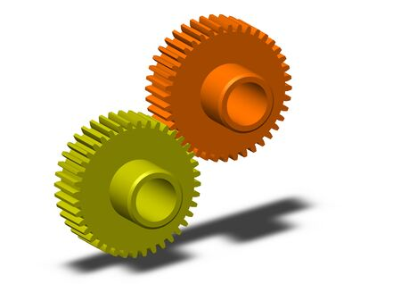 gearings: Set of gears