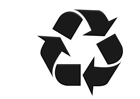 recycle: Recycling logo Lizenzfreie Bilder