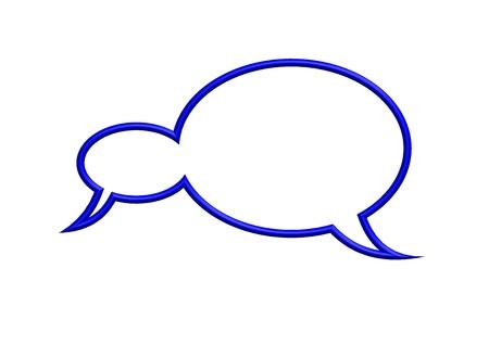 blue speech bubble Stock Photo - 10379966