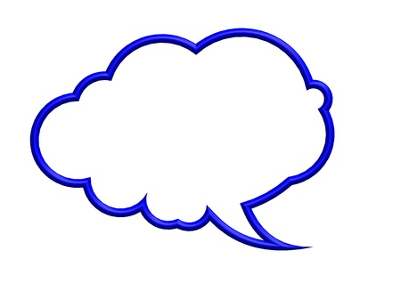 blue speech bubble photo