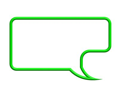 Green speech bubble Stock Photo - 10387653