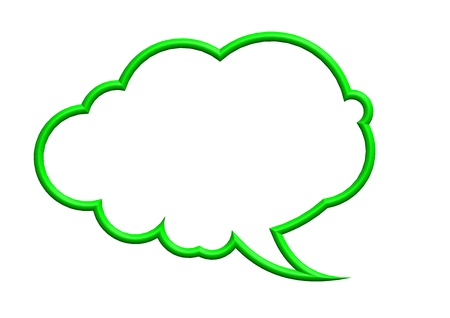 Green speech bubble photo