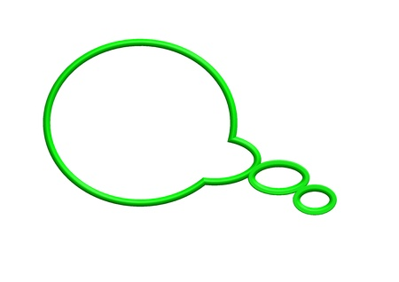 Green speech bubble Stock Photo - 10387655