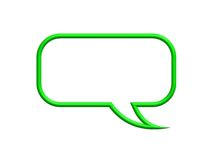 speech marks: Green speech bubble