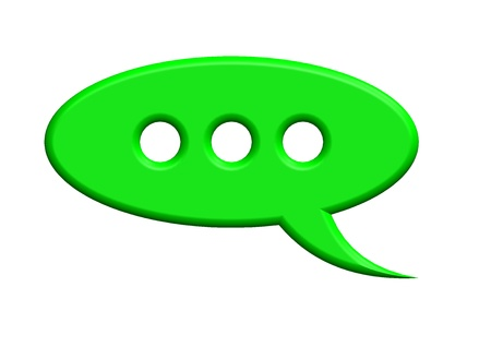 Green speech bubble Stock Photo - 10387654