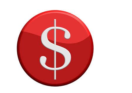 Money button Stock Photo - 11432791