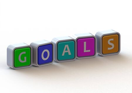 Cubes: Goals Stock Photo - 11678746