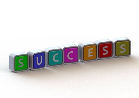 Cubes: success Stock Photo - 11678733