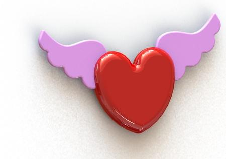 Angel Wing Heart photo