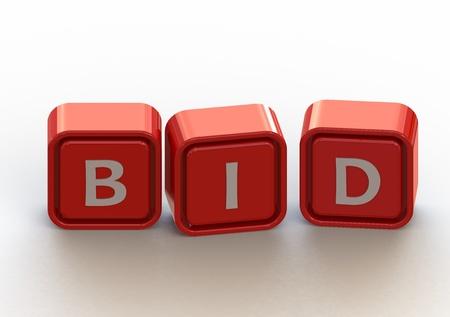 Cubes: bid Stock Photo - 11678864