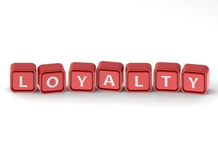 buzzword: Cubes: loyalty Stock Photo