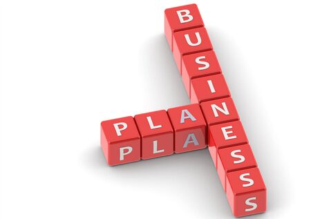 Buzzwords: business plan Stock Photo - 11678949