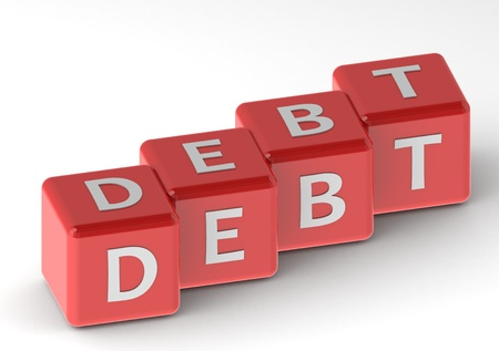 Buzzwords: debt Stock Photo - 11678962
