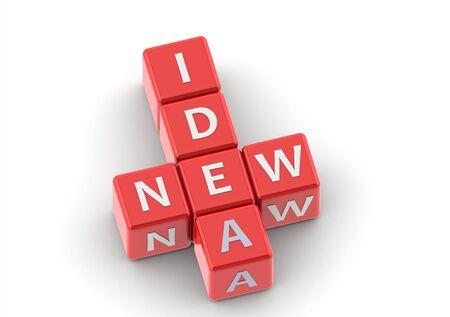 buzzwords: Buzzwords: new idea Stock Photo