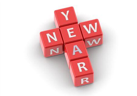 buzzwords: Buzzwords: new year Stock Photo