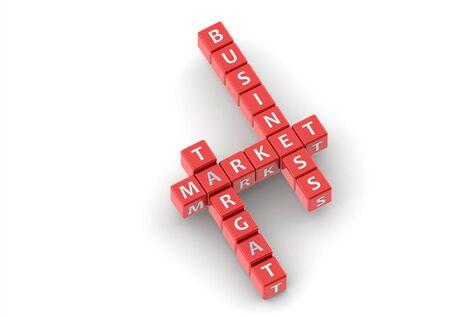 buzzwords: Buzzwords: target market business Stock Photo