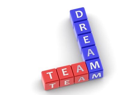 buzzwords: Buzzwords: dream team Stock Photo