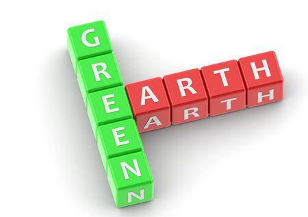 buzzwords: Buzzwords: green earth Stock Photo