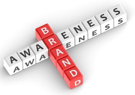 buzzwords: Buzzwords: brand awareness Stock Photo