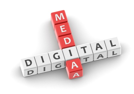 Buzzwords: digital media Stock Photo - 11818525