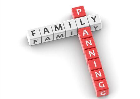 buzzwords: Buzzwords: family planning Stock Photo