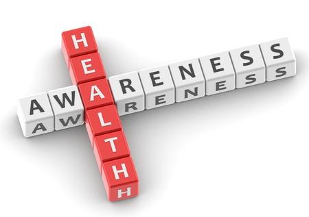 buzzwords: Buzzwords: health awareness Stock Photo