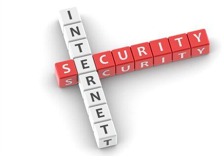 buzzwords: Buzzwords: internet security Stock Photo