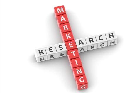 Buzzwords: marketing research Stock Photo - 11818523