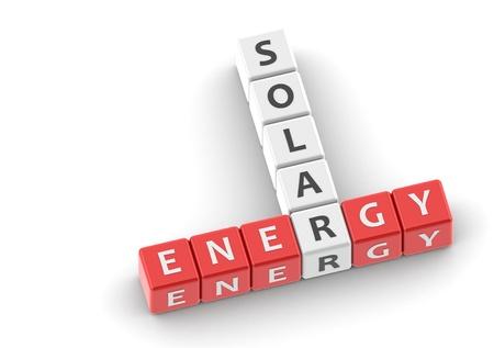 buzzwords: Buzzwords: solar energy Stock Photo