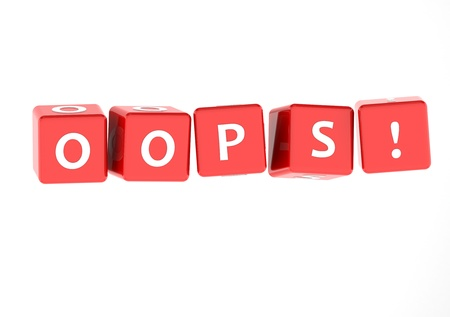 Oops Stock Photo - 12269609