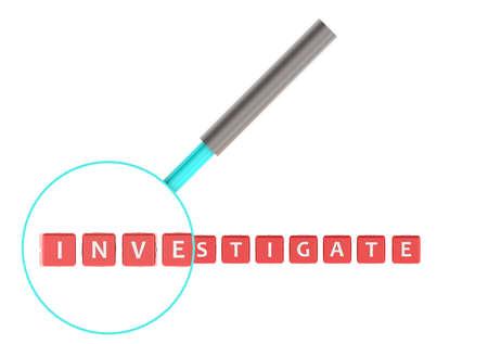 appraise: Investigate Stock Photo
