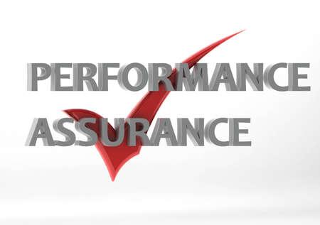 assure: Performance assurance Stock Photo
