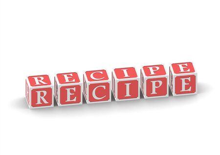 buzzword: Recipe Stock Photo