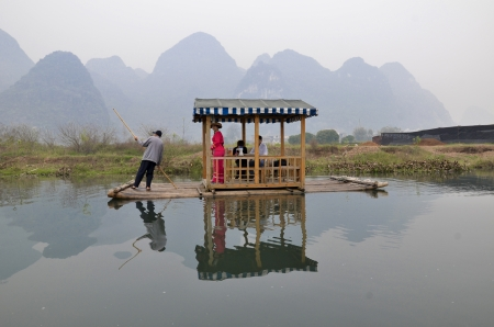 Tour along Yulong River, Yangshuo