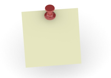 Blank Yellow Sticky Note photo