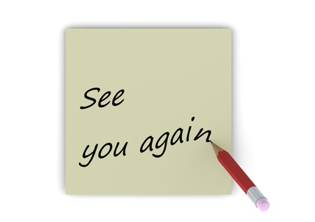 Goodbye Note Stock Photo Picture And Royalty Free Image Image