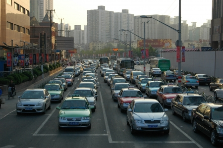 Traffic in Shanghai