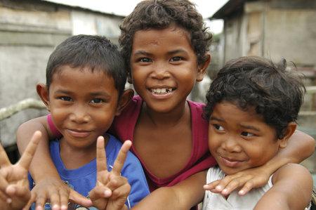 Potrait of cheeful Malaysia children
