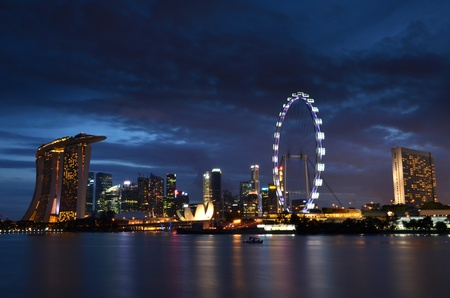 When the sun is gone, Singapore is more beautiful