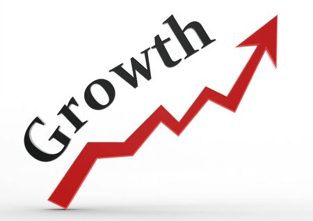 Growth graph  photo