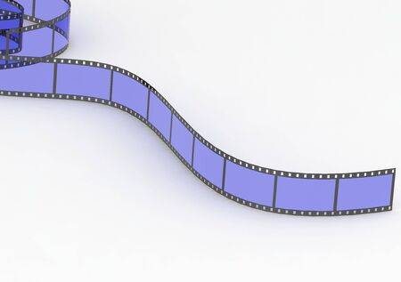 motion picture: Blue film strip