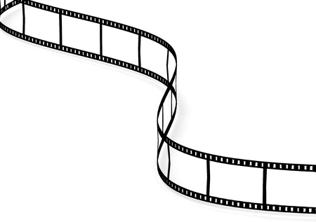 motion picture: Film strip on white background