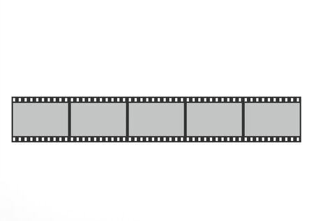 film shooting: Top view of the film strip