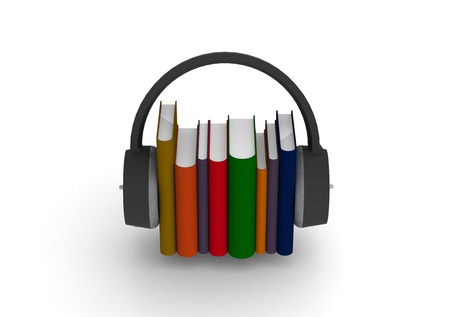 educacion gratis: Los libros de audio Foto de archivo